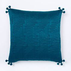 Washed Silk Quilted Pillow Cover, 18