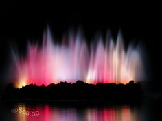 This wonderful night fountain of rainbow colors was created on a warm evening. The colors reflected nicely into the dark water around the fountain. So that it was very easy to photograph a long exposure picture.  This picture was created by my devote ...Please repin, share and Comment!