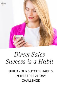 Ready to build healthy habits and boost your direct sales biz in 21 days? Then join the free challenge today! #directsales #directselling #partyplanconsultant Body Shop At Home, The Body Shop, Direct Sales Tips, 21 Day Challenge, Thirty One Gifts, Pink Zebra, Rodan And Fields, 21 Days, Say Hello