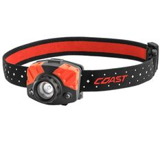The Headlamp combines many modern Coast beam features into 1 front-loaded headlamp. The first button on the headlamp gives you the ability to shine an ultra-wide flood beam and then quickly twist Modern Coast, Police Flashlights, Strap Hinges, Alkaline Battery, Blue Bodies, Electronic Recycling, Red Led, Wide Angle, Night Vision