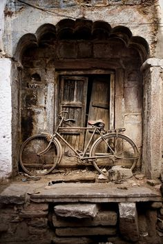 Derelict Door with Bike