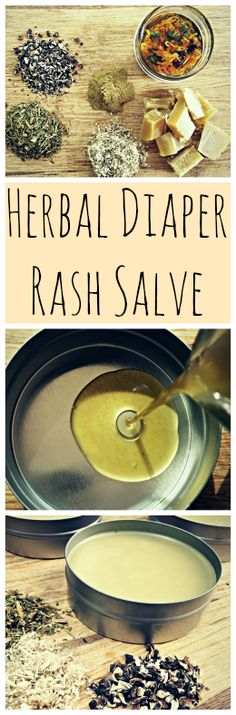 A recipe for a homemade, DIY herbal diaper rash salve that works!