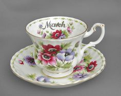 March ~ Royal Albert Tea Cup and Saucer