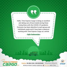 Thank you Sajin Sadanandan for those kind words Cargo Services, Kind Words, We Need, Cute Words