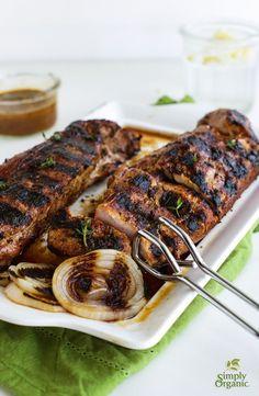 This grilled pork tenderloin marinade includes soy sauce, honey, lemon ...