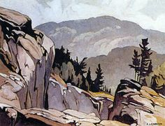 Alfred Joseph Casson. Canadian (1898 - 1992) - The Group of Seven - Whitefish Falls