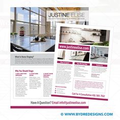 Flyer Design for Justine Elise #interiordesign #flyer #dredesigns #torontofreelancedesigner Flyer Design, Create Space, Home Staging, Attraction, This Or That Questions, Interior, Modern, Indoor, Trendy Tree