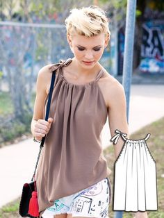 diy top from old pillowcase - Google Search