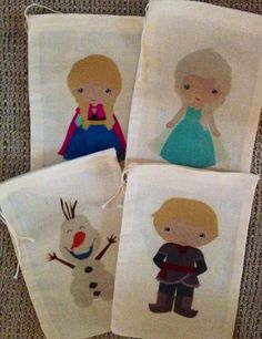 Adorable Disney's Frozen Favor Bags by SweetLilysConfection, $18.00  www.facebook.com/SweetLilysConfectionary