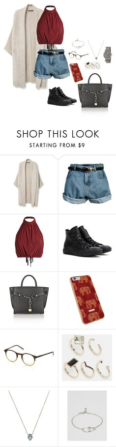 """I hate work"" by shay-the-turtle on Polyvore featuring Violeta by Mango, Retrò, Converse, Alexander Wang, Oliver Peoples, Oasis, ALDO, ASOS and Timex"
