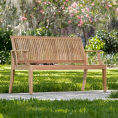 The Laguna Teak Wood Bench is made with a contoured seat and back for maximum comfort. Our teak wood benches have a life expectancy of 75 years, untreated and weathered. Teak Garden Furniture, Patio Furniture Sets, Wood Furniture, Furniture Design, Westminster Teak, Teak Dining Table, Teak Wood, Outdoor Decor, Wood Benches
