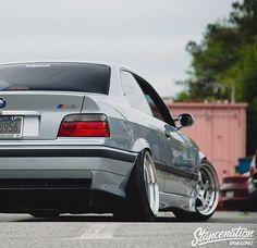 BMW E36 M3 silver stance