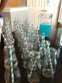 Playing, Parties, & Pins: Make it Monday: DIY Glass Milk Bottles