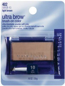 Maybelline New York Ultra-Brow Brow Powder, Shade #10 Light Brown, 0.1 Ounce by Maybelline. $22.99. Easy to apply with brush applicator. Defines brows. Natural look. Brush on powder color defines brows softly and naturally.