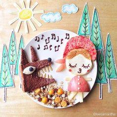 Food art: Dekorierte Teller von Samantha Lee