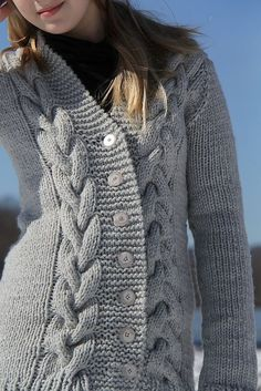 Lithos Cardigan Pattern - Knitting Patterns and Crochet Patterns from KnitPicks.com