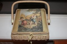 Vintage Woven Box Purse or Sewing Basket by ThePickerGirl on Etsy, $23.00