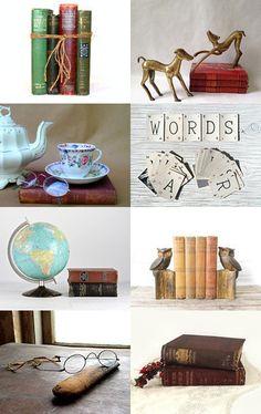 Novel Vintage by #VintageAndMain on Etsy #Reading #Library #VintageDecor #AntiqueBooks