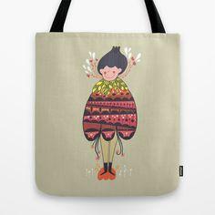 Flower girl Tote Bag by Bnito / Benoit Cesari
