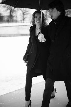Street style en la alta costura de Paris primavera verano 2013: Natalia Vodianova y Antoine Arnault