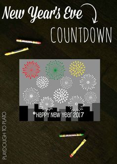 Free and fun New Year's Eve countdown printable for kids