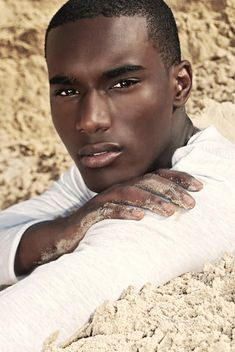 black Male Model Face Shot | ... Male Model Corey Baptiste (Eye Candy Ranked #19 of Top 50 Male Models..