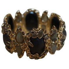 Pre-owned Alexis Bittar Neo Bohemian Large Hinge Bangle, Black, Gray... ($222) ❤ liked on Polyvore featuring jewelry, bracelets, accessories, hinged bangle, bohemian jewelry, bracelets & bangles, bracelet bangle and bohemian bracelet