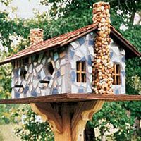 Wow! Talk about a house for birds, I have to get an instructor and be shown how to make one of these birdhouses!! Lol