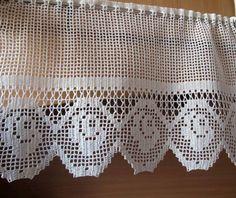 Úžitkový textil - háčkovaná záclona - 5633461_