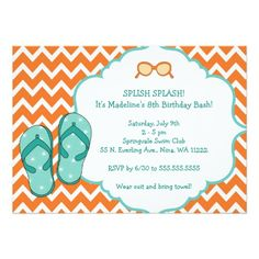 265 best summer party invitations images zazzle invitations