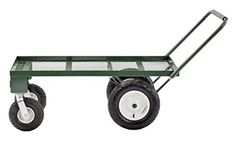 Buy Sandusky Heavy Duty Steel 4 Wheel Flat Wagon Pull Handle, 750 lbs Capacity, 48 Length x 24 Width online - Pptoplike Lawn Equipment, Outdoor Power Equipment, Tool Cart, Cattle Farming, Garden Tool Storage, Utility Cart, Steel Mesh, Shop Plans, Wheelbarrow