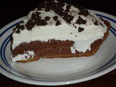 """Chocolate """"No Bake"""" pie."""