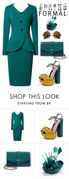 """""""Spring formal"""" by oliverab ❤ liked on Polyvore featuring Gucci, Halogen and springformal"""
