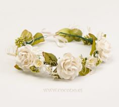 corona de flores comunion silvestre