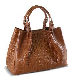 Wow Handbag Via La Moda Created From Nile Crocodile Hornback