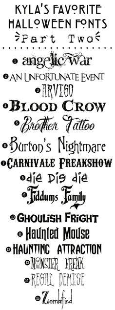 Funky Polkadot Giraffe: Kyla's Favorite Free Halloween Fonts: {Part Two}