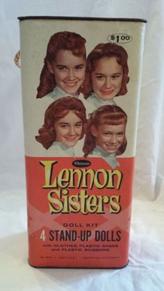 LENNON SISTERS Paper Dolls in original 1960's box Toy girls SISTER Doll TV Show The Lennon Sisters, Lawrence Welk, Paper Dolls Clothing, Those Were The Days, Old Toys, Toy Boxes, My Children, Vintage Toys, Just Love