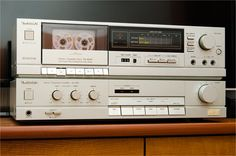 Vintage Audio: Technics - Stereo Cassete Deck RS-B205 and Stereo Integrated…