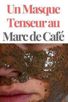 Un Masque Tenseur Maison avec du Marc de Café.