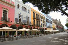 Outdoor cafes [Puebla, Mexico]