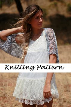 BASIC SHRUG PATTERN- Knitting shrug pattern, loose knit shrug-women's shrug-metal grey crop top-silver bolero-formal sweater-open knit shrug