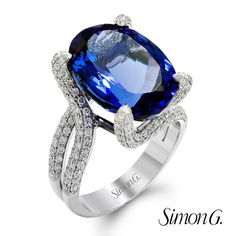 Feeling blisfully blue with this glistening, custom created Sapphrie ring! How about you?  Featured Style: MR1467  #SimonG #Fashion #Jewelry