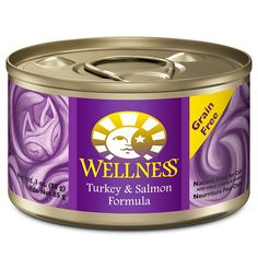 Wellness Complete Health Natural Canned Grain Free Wet Cat Food, Turkey and Salmon Pate, 3-Ounce Can (Pack of 24) >>> See this awesome image  : Cat food