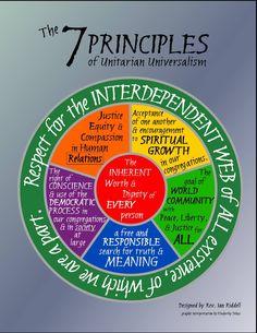 Unitarian Universalist principles - nice to have a spiritual practice you can memorize