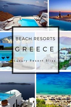Beach Resorts in Greece. Including Greece travel tips, beautiful resorts in Santorini and and many other islands. Great places to honeymoon or vacation. Greece Resorts, Inclusive Resorts, Beach Resorts, Luxury Resorts, Paros, Mykonos, Bungalows, Europe Beaches, Zakynthos