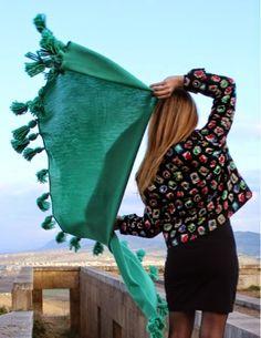 Our shawl through the images byTheChicPest #Marinafinzi shop.marinafinzi.com