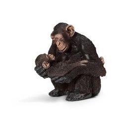 Chimpanzé femelle avec bébé chimpanzé - Figurine Schleich 14679 6€29 et 8€75 chez Star Jouet ACHETEE
