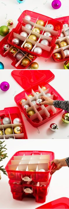 Christmas Ornament Storage Christmas Decorations Pinterest