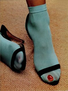 "dazedarchives: "" Dazed & Confused, September 2000 Evian ad "" socks and heels"