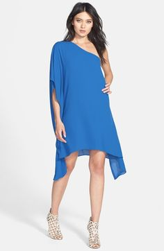 BCBGMAXAZRIA 'Alana' One-Shoulder Asymmetrical Shift Dress available at #Nordstrom